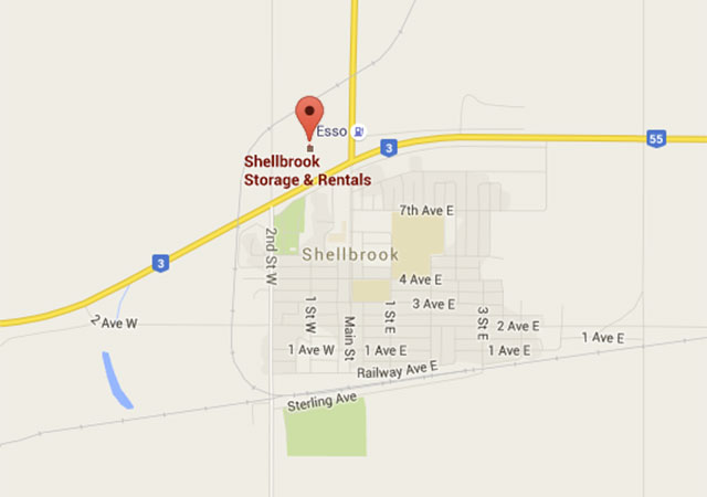 Map of Shellbrook